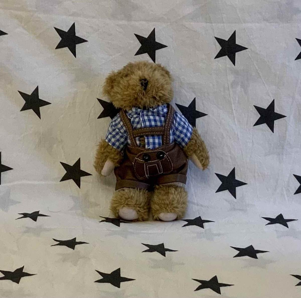 Brown Bear in playsuit