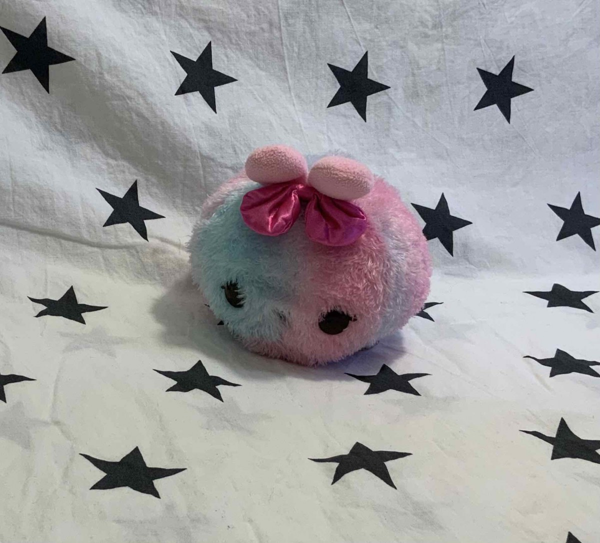 blue and pink bunny