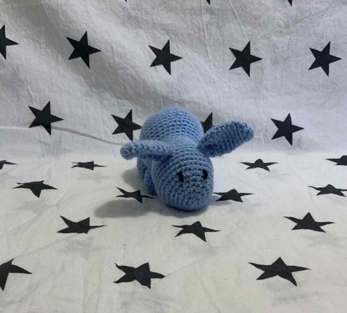 blue crochet rabbit